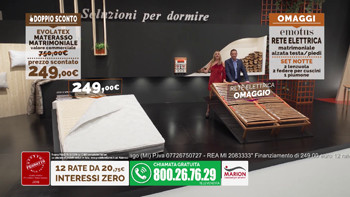 Offerta Revolution: materasso in lattice AirPlus e rete elettrica Domotion